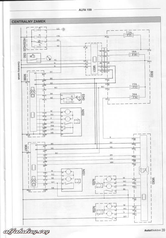 Schema Elettrico Navigatore Alfa 159 : Deutsch zentralverriegelung funktioniert nicht mit