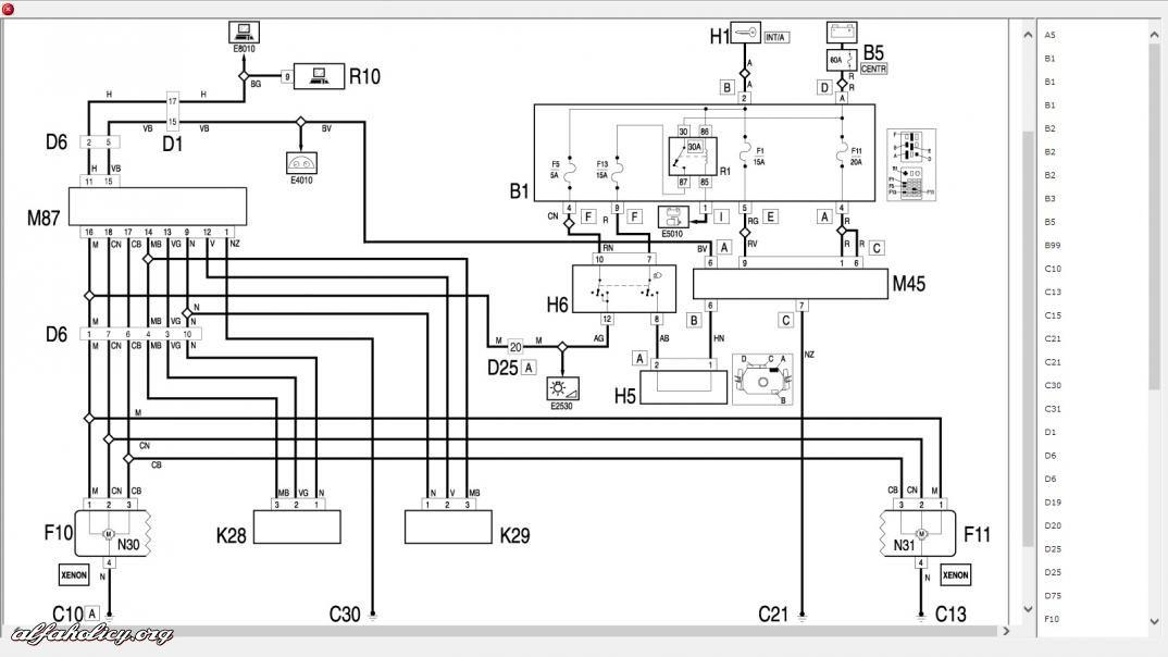 Impianto Elettrico Schema Alfa 159