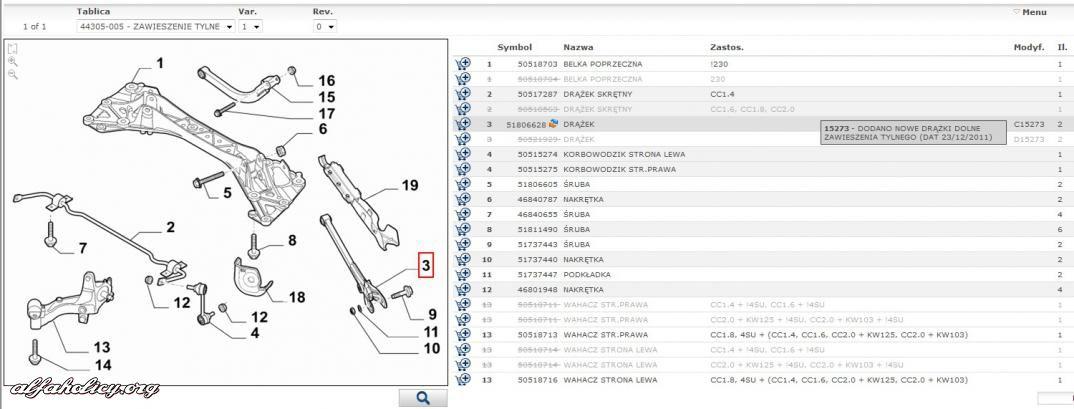 giulietta  nowe dr u0105 u017cki dolne zawieszenia tylnego
